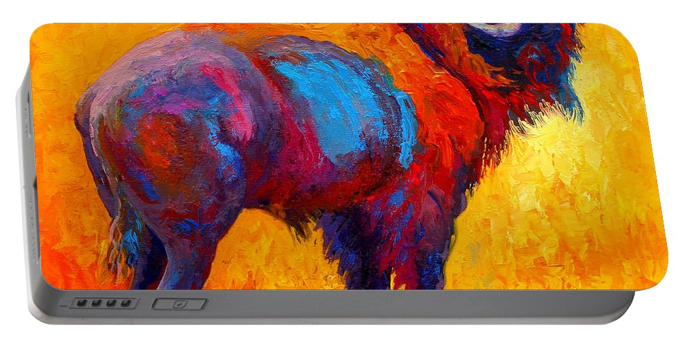 Wildlife Portable Battery Charger featuring the painting Something In The Air by Marion Rose