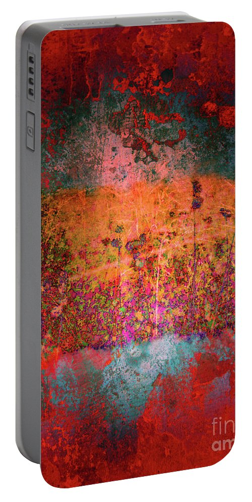 Texture Portable Battery Charger featuring the digital art Sometime In The Beginning by Tara Turner