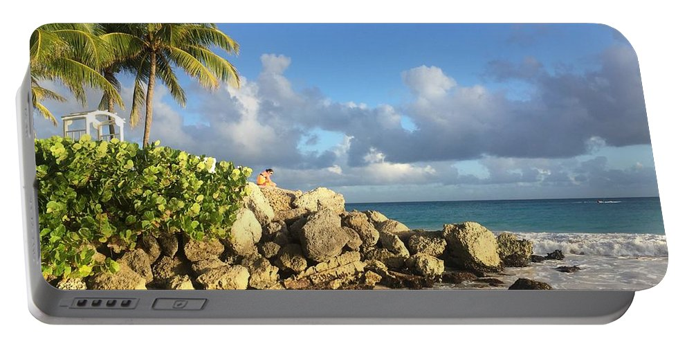 Caribbean Portable Battery Charger featuring the photograph Somewhere in Barbados by Cindy Ross