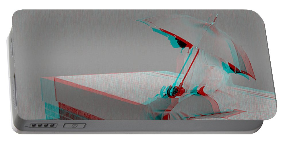 3d Portable Battery Charger featuring the photograph Somewhere It's Raining - Use Red-cyan 3d Glasses by Brian Wallace