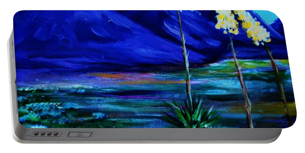 Desert Portable Battery Charger featuring the painting Sonora by Melinda Etzold
