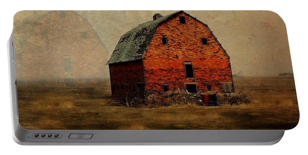 Barn Portable Battery Charger featuring the digital art Soon To Be Forgotten by Julie Hamilton