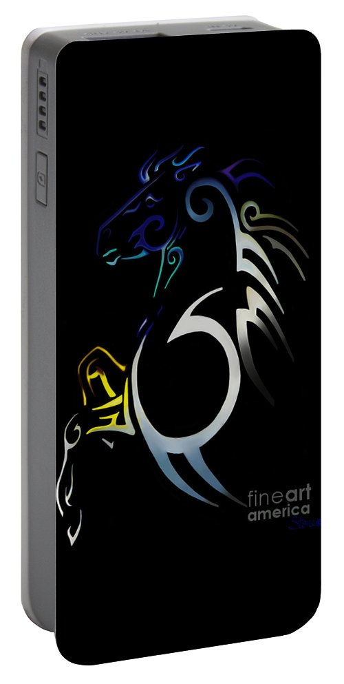 Tribal Portable Battery Charger featuring the digital art Soquili by September Stone