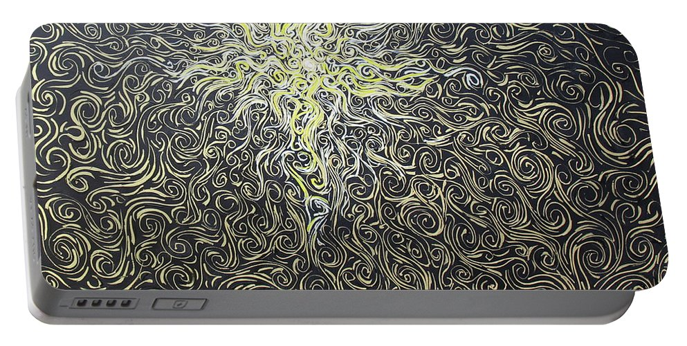 Impressionism Portable Battery Charger featuring the painting Soul Genesis by Stefan Duncan