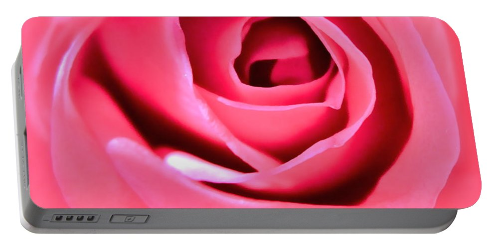 Photograph Of Pink Rose Portable Battery Charger featuring the photograph Soul Searching by Gwyn Newcombe