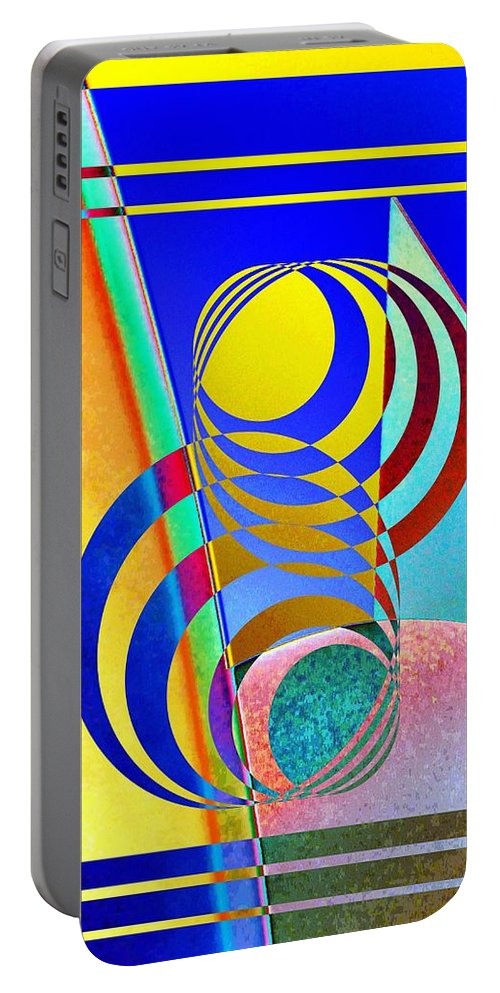 Abstract Portable Battery Charger featuring the digital art Soundings by Tim Allen