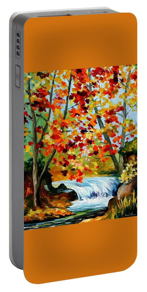 Afremov Portable Battery Charger featuring the painting Source by Leonid Afremov
