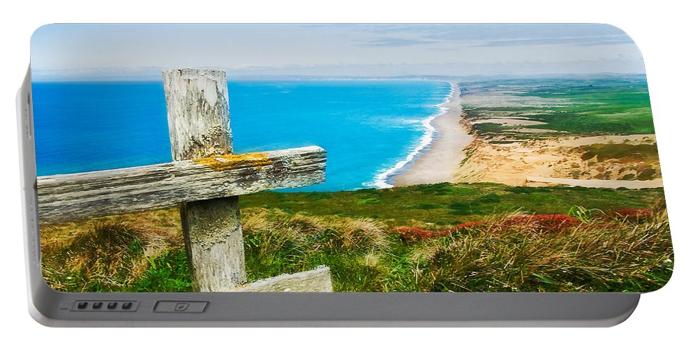 Point Reyes Portable Battery Charger featuring the photograph South Beach At Point Reyes by Mick Burkey