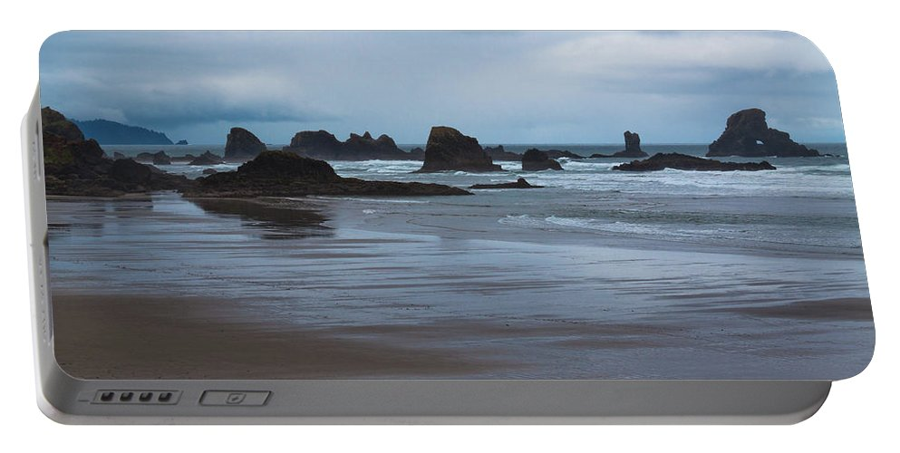 South Of Indian Beach Portable Battery Charger featuring the photograph South Of Indian Beach by David Patterson