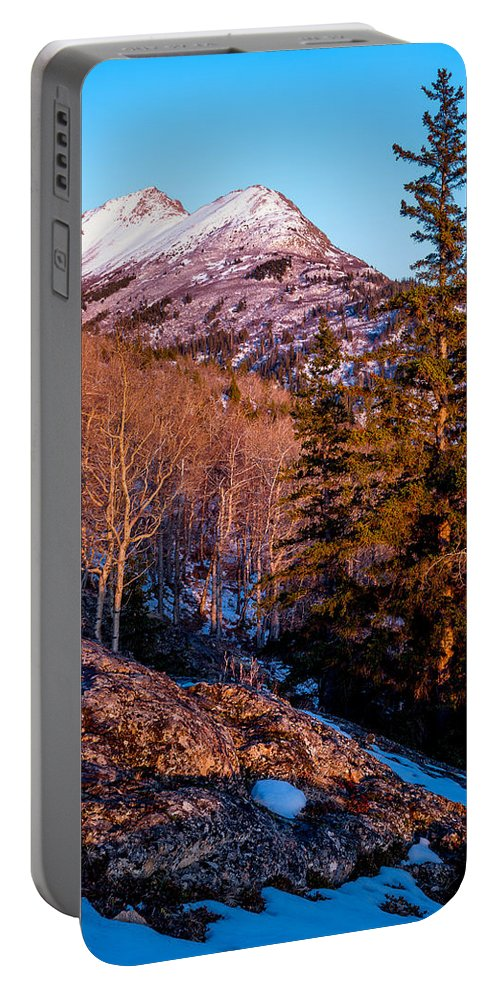 Alaska Portable Battery Charger featuring the photograph South Suicide Sunset by Tim Newton