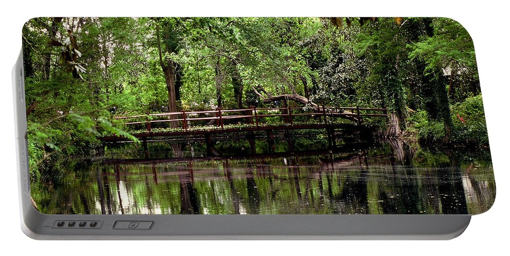 Bridge Portable Battery Charger featuring the photograph Plantation Living by Gary Wonning