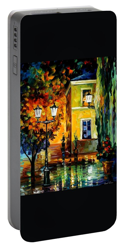 Afremov Portable Battery Charger featuring the painting Southern Night by Leonid Afremov
