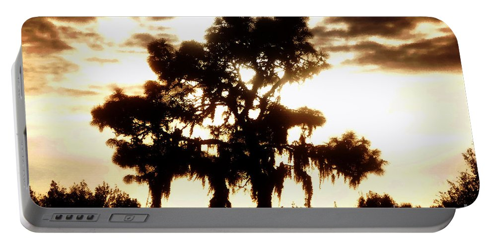 Pine Tree Portable Battery Charger featuring the painting Southern Pine by David Lee Thompson