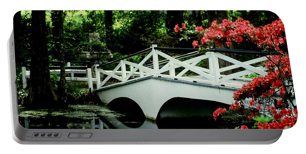 White Bridge Portable Battery Charger featuring the photograph Southern Splendor by Gary Wonning