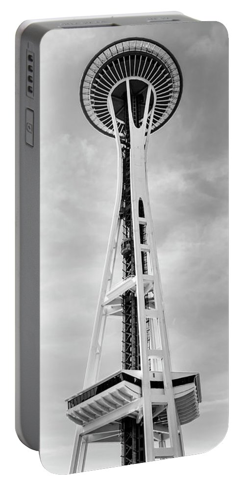 Architecture Portable Battery Charger featuring the photograph Space Needle by Radek Hofman
