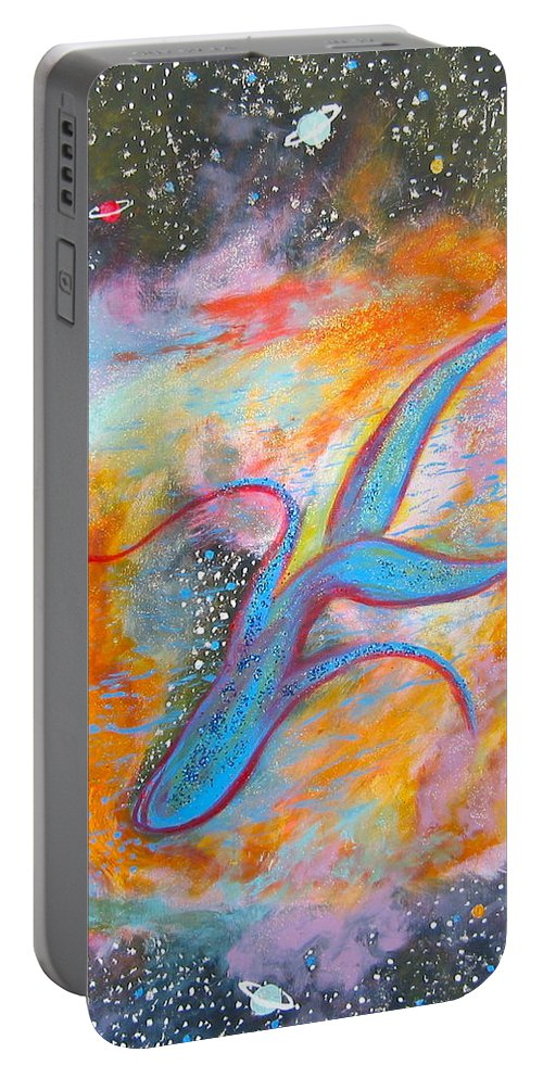 Space Portable Battery Charger featuring the painting Space Ocean by V Boge