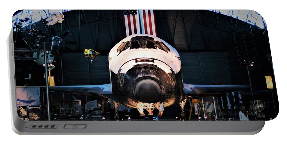 Space Shuttle Discovery Portable Battery Charger featuring the photograph Space Shuttle Discovery by Patti Whitten