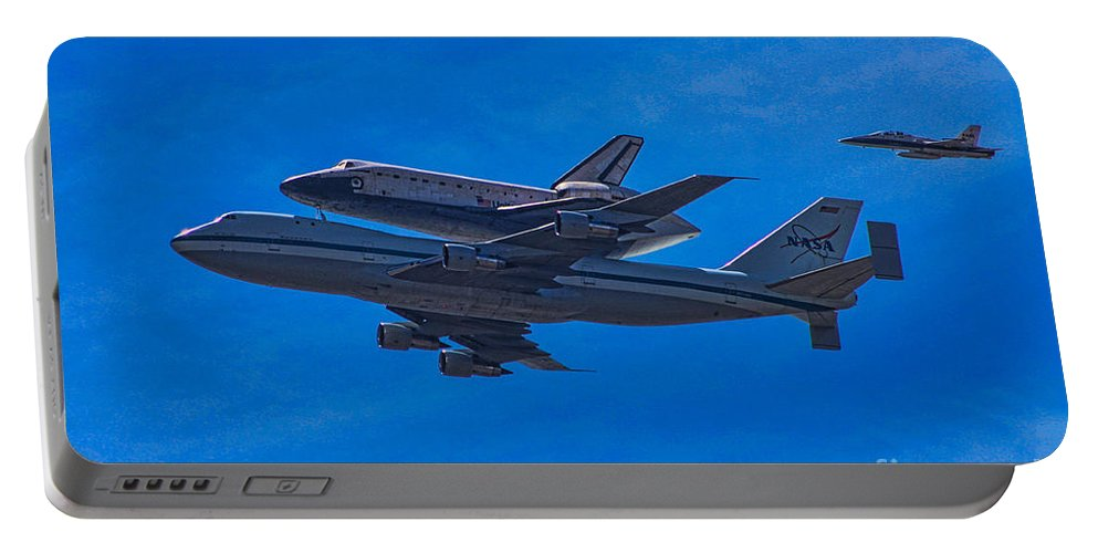 Space Shuttle Endevour Portable Battery Charger featuring the photograph Space Shuttle Endevour by Tommy Anderson