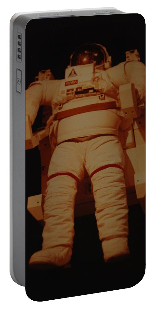 Nasa Portable Battery Charger featuring the photograph Space Suit by Rob Hans