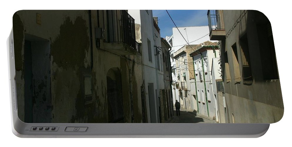 Spain Portable Battery Charger featuring the photograph Spain One Way by Minaz Jantz