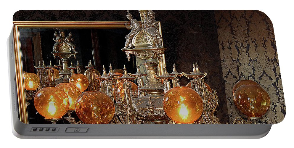 Lighting Portable Battery Charger featuring the digital art Spaniard Antiquity by DigiArt Diaries by Vicky B Fuller