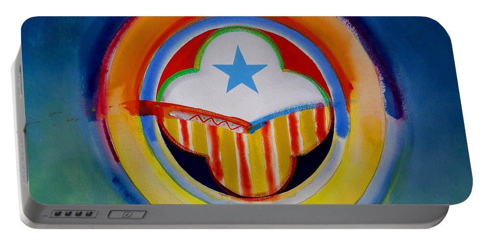 Button Portable Battery Charger featuring the painting Spanish American by Charles Stuart