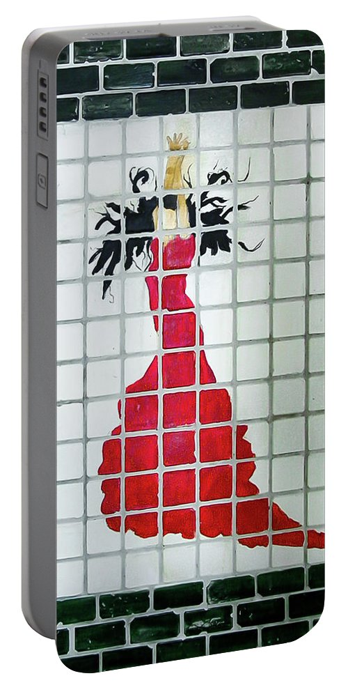 Brick Portable Battery Charger featuring the mixed media Spanish Dancer by Herman Cerrato