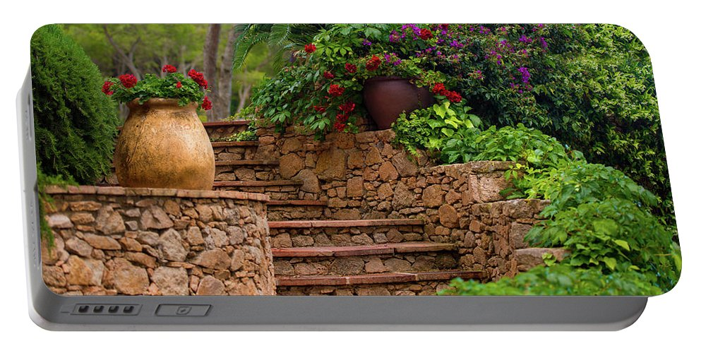Spain Portable Battery Charger featuring the photograph Spanish Retreat by Jacquelyn Crady