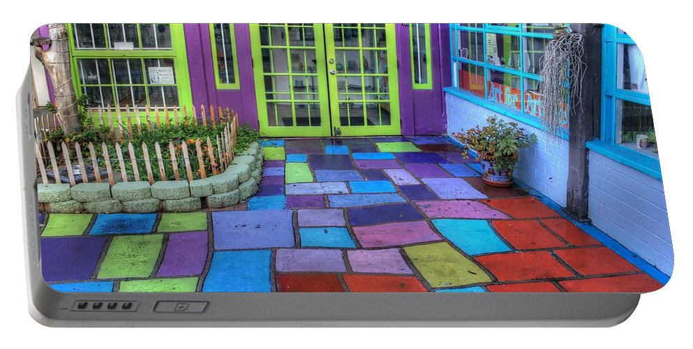 Spanish Village Art Center Portable Battery Charger featuring the photograph Spanish Village Art Center by Jane Linders