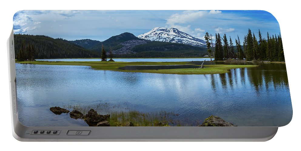 Oregon Portable Battery Charger featuring the photograph Sparks Lake, Oregon by Steven Clark