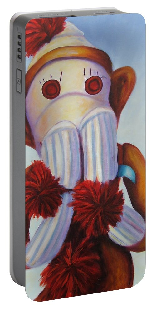 Children Portable Battery Charger featuring the painting Speak No Bad Stuff by Shannon Grissom
