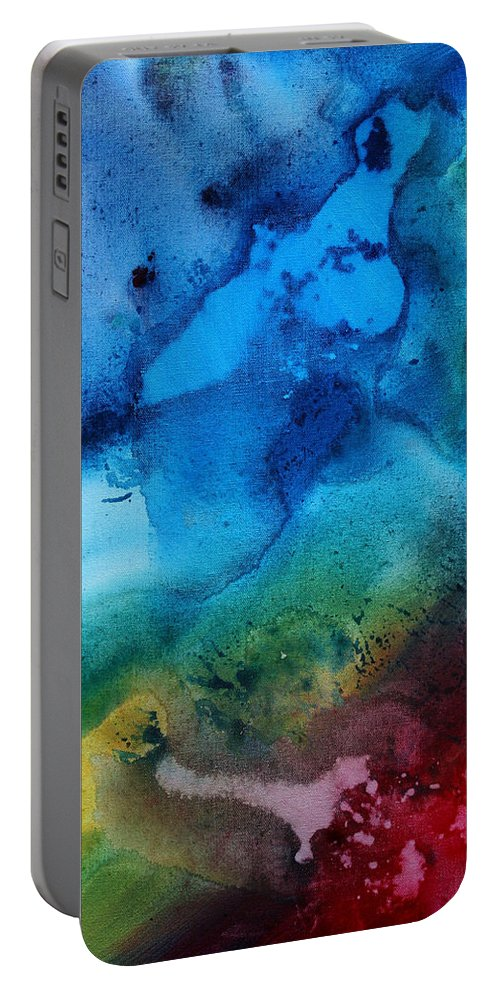 Painting Portable Battery Charger featuring the painting Speak To Me 3 by Megan Duncanson