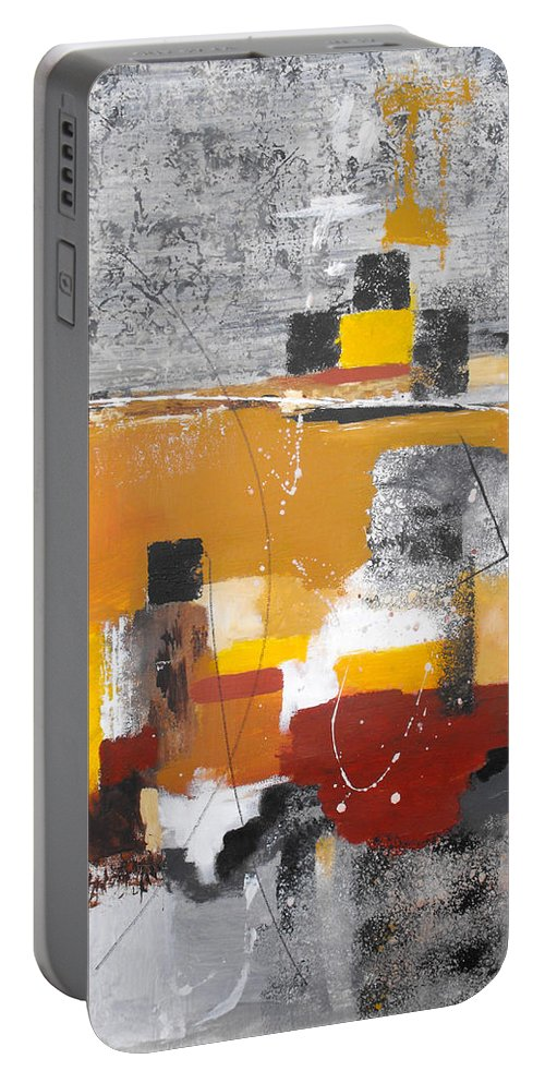 Abstract Portable Battery Charger featuring the painting Special Circumstances II by Ruth Palmer