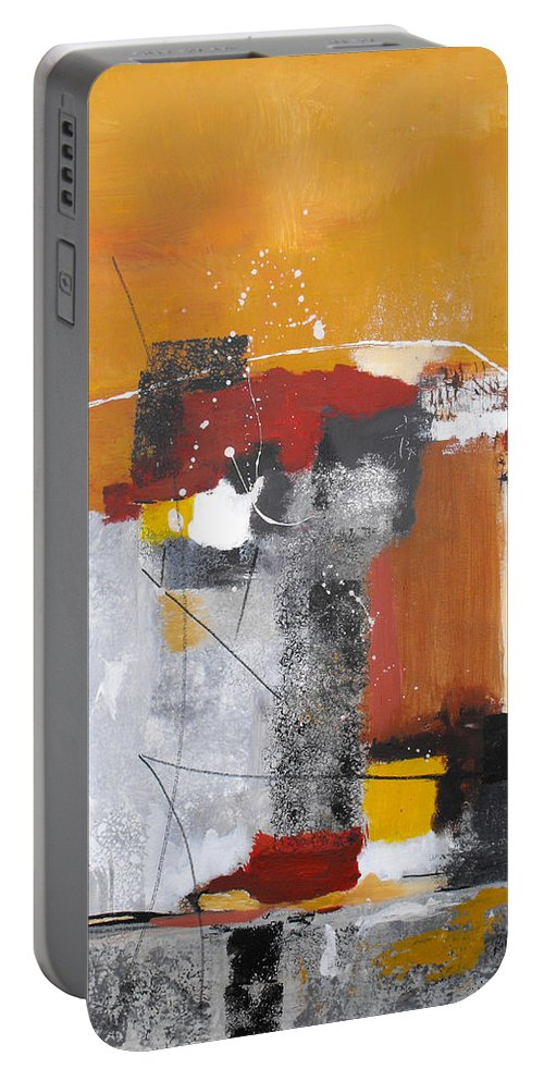 Abstract Portable Battery Charger featuring the painting Special Circumstances by Ruth Palmer