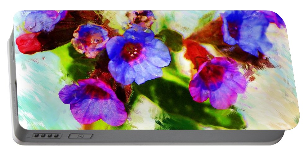 Abstract Portable Battery Charger featuring the photograph Speckled Trout the flower by David Lane