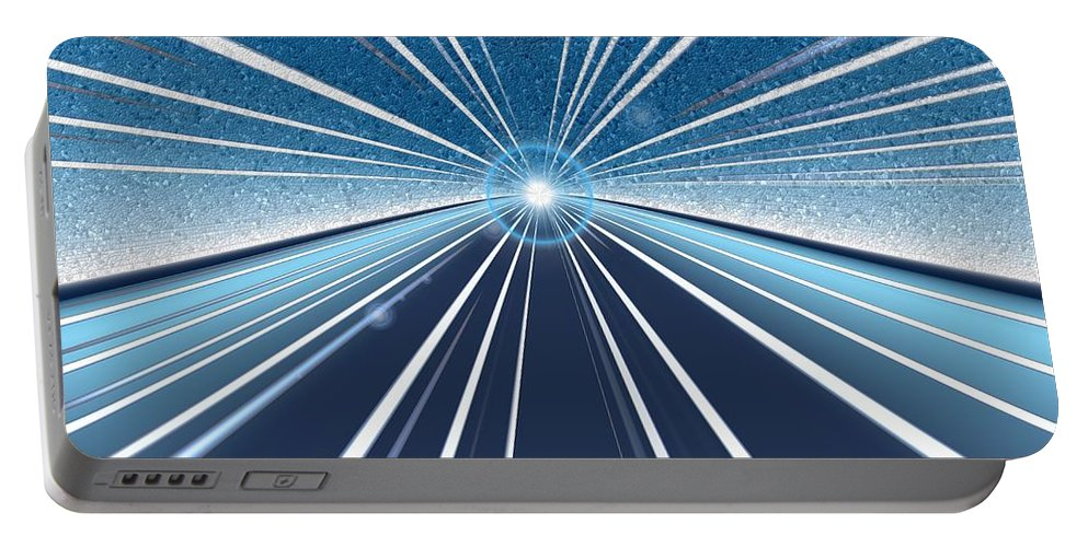 Speed Portable Battery Charger featuring the digital art Speed by Tim Allen