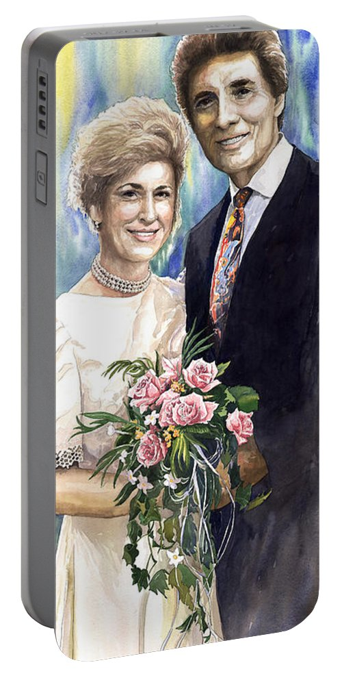 Watercolour Portable Battery Charger featuring the painting Spenser And Danise by Yuriy Shevchuk