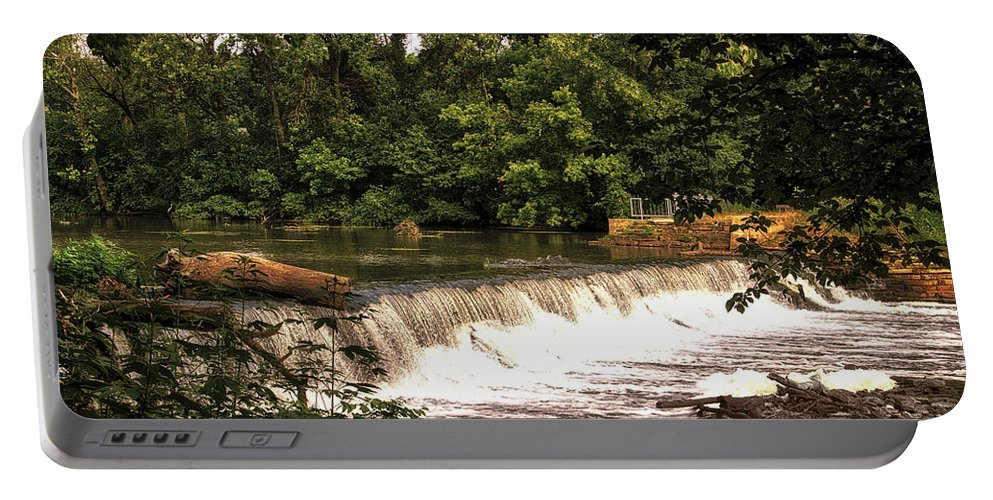 Spillway Portable Battery Charger featuring the photograph Spillway Early Morning by Thomas Woolworth
