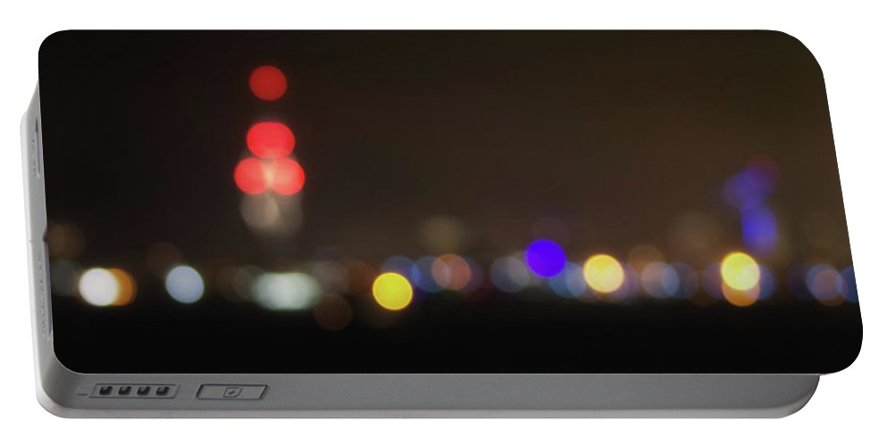 Tower Portable Battery Charger featuring the photograph Spinnaker Tower Bokeh by Martin Newman