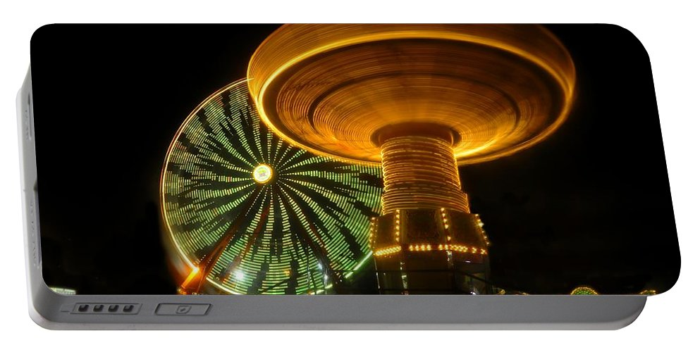 Florida State Fair Portable Battery Charger featuring the photograph Spinning Fair Fun by David Lee Thompson