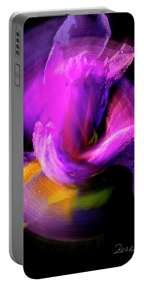 Color Portable Battery Charger featuring the photograph Spinning Iris by Frederic A Reinecke