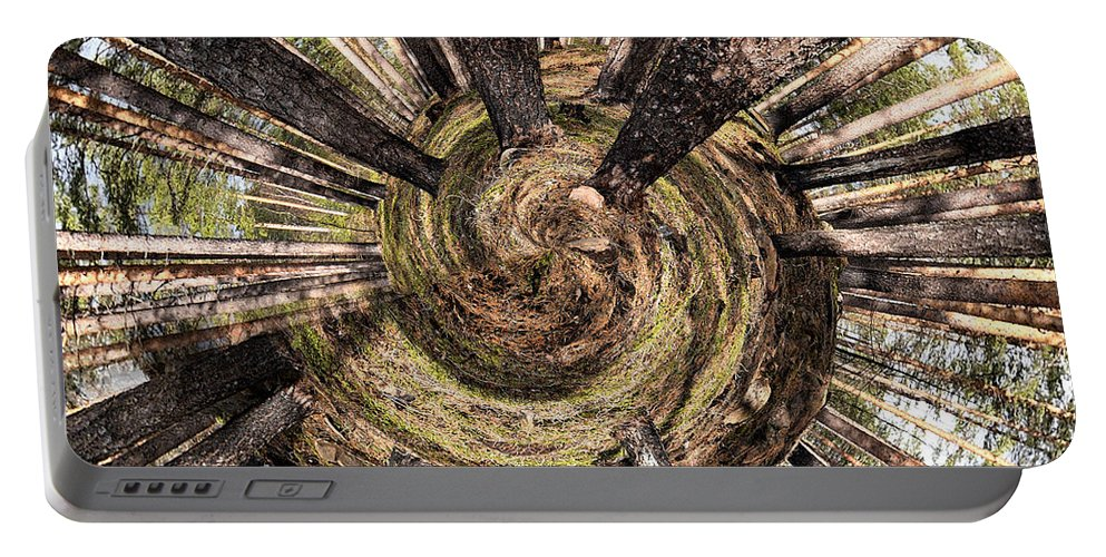Lehtokukka Portable Battery Charger featuring the photograph Spiral Of Forest by Jouko Lehto