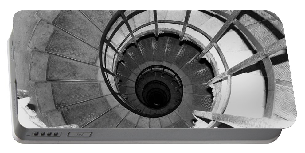 Spiral Staircase Portable Battery Charger featuring the photograph Spiral Staircase At The Arc by Donna Corless