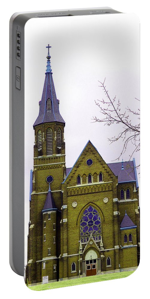 Spire Portable Battery Charger featuring the photograph Spire by Albert Stewart