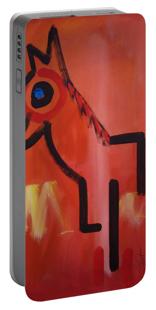 Spirit Horse Portable Battery Charger featuring the painting Spirit Horse by Charles Stuart