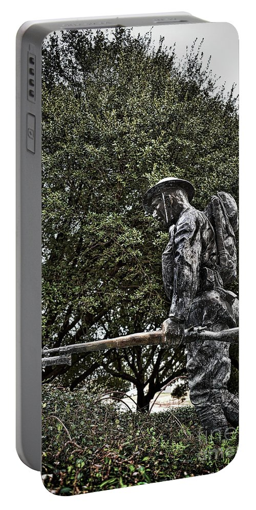 Scenic Tours Portable Battery Charger featuring the photograph Spirit Of American Doughboy by Skip Willits