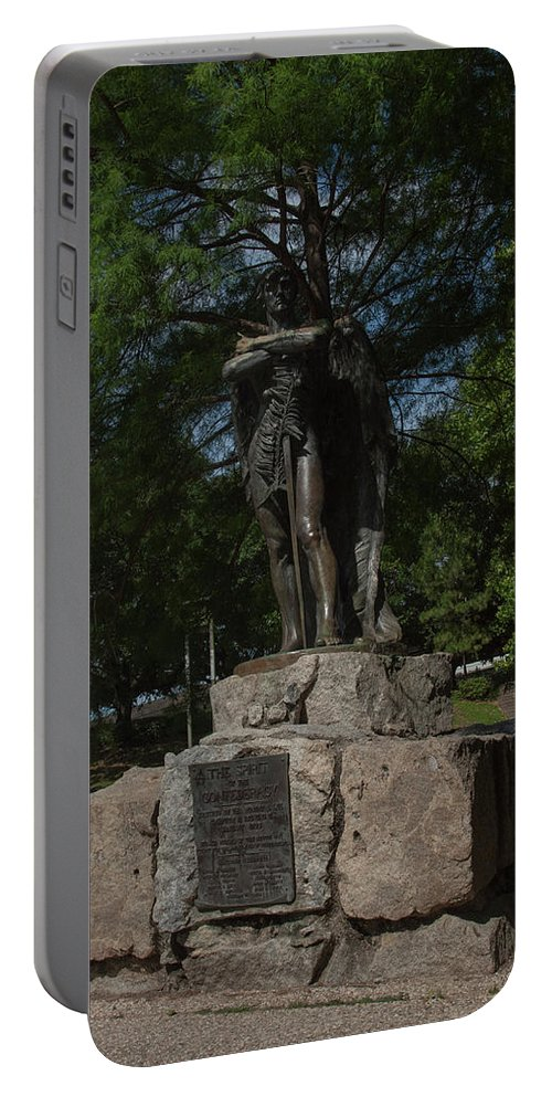 Houston Portable Battery Charger featuring the photograph Spirit Of The Confederacy by Joshua House