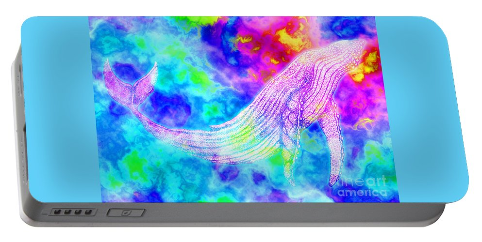 Whale Portable Battery Charger featuring the digital art Spirit Whale 3 by Nick Gustafson