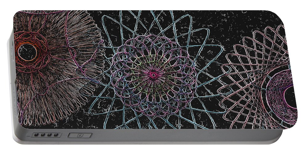 Spirograph Portable Battery Charger featuring the photograph Spirograph 1010 by Modern Art