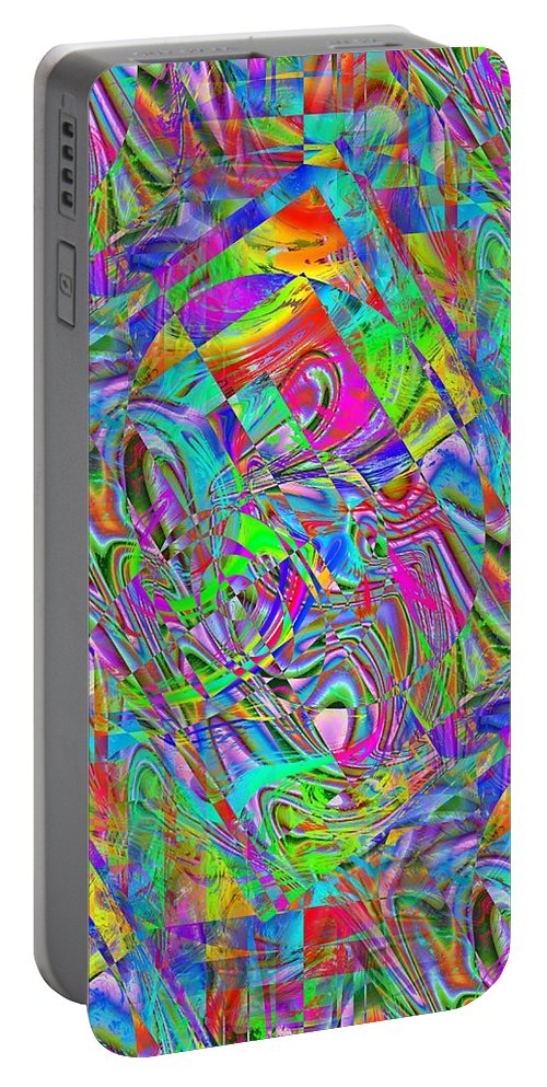 Abstract Portable Battery Charger featuring the photograph Splash 4 by Tim Allen